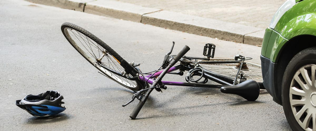 Bicycle on Street After Accident